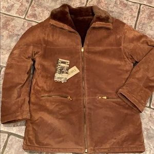 New Winlet Reversible Genuine Suede Coat Size L